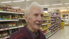 Britain's oldest supermarket worker Reg Buttress dies aged 95