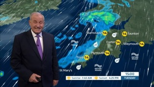 Wet and windy weather expected by mid-afternoon