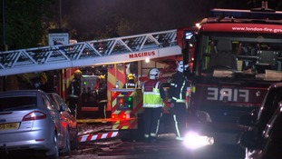 Around 60 firefighters tackled the blaze