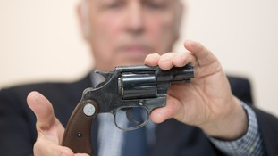 A gun handed in during the gun surrender campaign