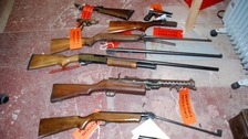 Air rifles, shotguns and flares handed in during weapons surrender