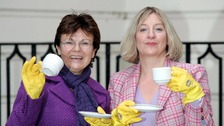 Dame Julie Walters (left) with Victoria Wood