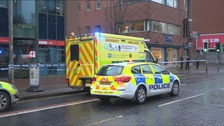 Woman dies after being knocked down by lorry in Belfast city centre