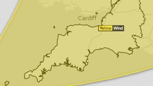 Strong wind weather warning across the South West