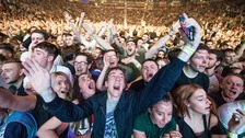 Fans at a Manchester Arena concert
