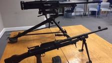 Machine guns among weapons handed in during amnesty
