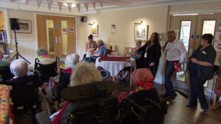 John Billitteri - aka Frankie Johns - entertaining care home residents.