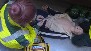 A mannequin may be the patient in all other aspects an emergency scenario  is about as real as it gets.