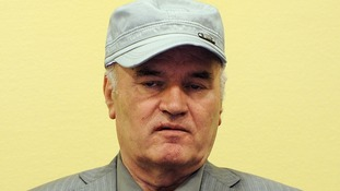 Mladic pictured at his initial court appearance in 2011.