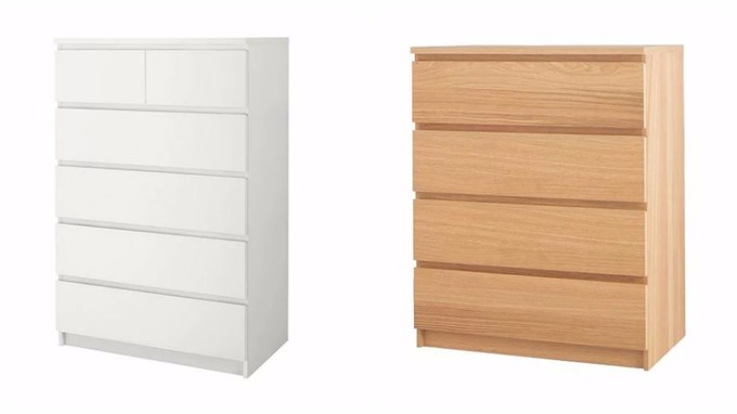 Beau Ikea Malm Chest Of Drawers