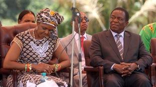 Zimbabwean first lady Grace Mugabe and Emmerson Mnangagwa were political rivals.