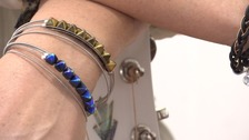 Guitar strings donated by celebs turned into jewellery