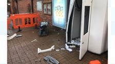 Smash and grab: 'significant' amount stolen in ATM