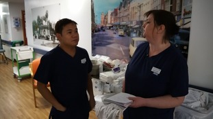 Beds manager Lorraine (right) is on a constant hunt for spare beds