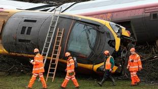 The scene of the Grayrigg rail crash