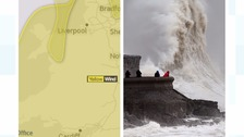 Weather warnings for wind and rain
