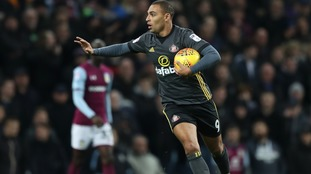 Sunderland's James Vaughan celebrates scoring his side's first goal of the game