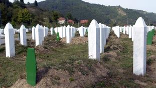 The Potocari Memorial Center near Srebrenica, the cemetery of identified Bosniak civilians killed in 1995.