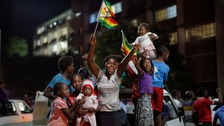 Celebrations as Mugabe resigns as president of Zimbabwe