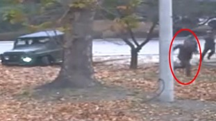 Dramatic video shows escape and shooting of defecting North Korean soldier