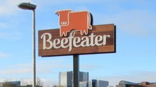 Beefeater sign