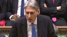 Chancellor Philip Hammond delivering his budget speech.