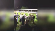 Leeds United match abandoned after mass brawl