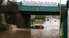 Flooding causes delays and road closures in Cumbria