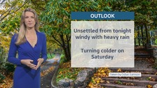 Weather: Windy with heavy rain at times