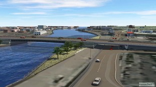 Computer image of the proposed third river crossing in Great Yarmouth.