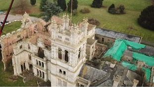 The redevelopment of a stately home in Northamptonshire that was destroyed by fire is causing concern in the neighbouring village.