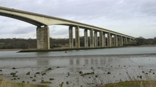 The Orwell Bridge in Suffolk is likely to close because of strong winds.