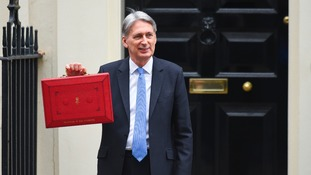 Philip Hammond on his way to deliver the 2017 Budget