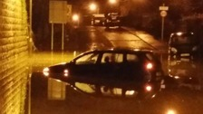 Homes evacuated after heavy rain causes flooding