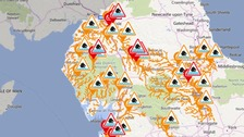 Three flood warnings and 13 flood alerts remain in place