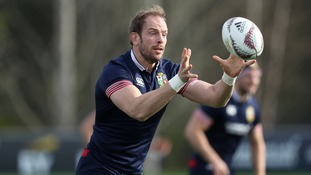 Alun Wyn Jones during the Captains Run at Beetham Park, Hamilton