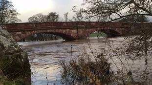 Bolton Bridge over River Eden