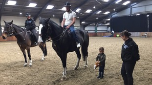 Jayden paid a visit to the force's mounted unit.
