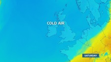 Cold air from an Arctic quarter envelopes the UK for the weekend