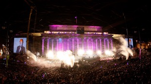 Opening ceremony festivities for :Liverpool's sting as a Capital of Culture in 2008.