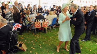 Jim Booth dancing with the Duchess of Cornwall.