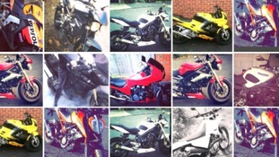 Just a few of the motorbikes stolen by the gangs.