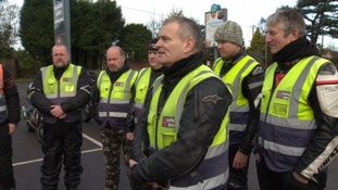 Martin leads the briefing at the Four Counties weekend ride out