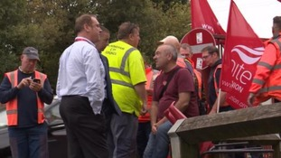 Some of the workers striking earlier this year