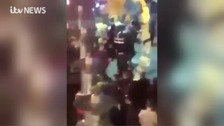 Watch: Dozens clash in violent Liverpool street Brawl