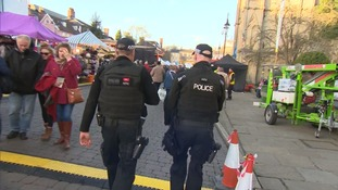 Armed police at the Bury St Edmunds event