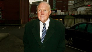 Broadcaster Stuart Hall arrives at Preston Magistrates Court