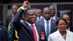 Emmerson Mnangagwa sworn in as new president of Zimbabwe, succeeding Robert Mugabe
