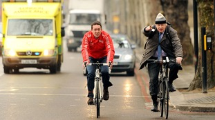 Chris Boardman and then-Mayor of London Boris Johnson in 2013.