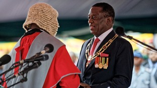 New President Emmerson Mnangagwa promises a fresh start for Zimbabwe